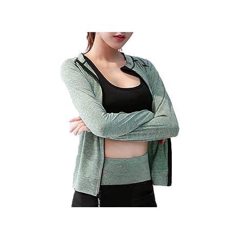 LZCX Mujeres Sport Coat Band Zipper Slim Fit Yoga Clothes ...