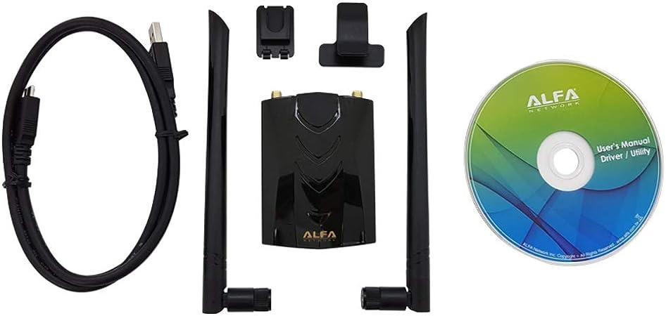 Alfa AWUS036ACH 1200Mbps Muy Range Wifi USB Adaptador