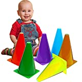 Toy Cubby Colorful Plastic Activity Play Traffic Cones - 24 Pcs
