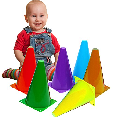 Toy Cubby Colorful Plastic Activity Play Traffic Cones - 12 Pcs by Toy Cubby
