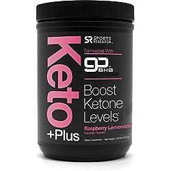 NEW! Keto Plus™ with Exogenous Ketones (BHBs) ~ Get into Ketosis, Enhance Performance & Mental Focus ~ Vegan & Keto diet friendly, Non-GMO & Gluten Free (Raspberry Lemonade)