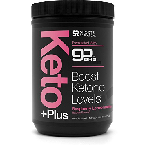 New! Keto Plus with Exogenous Ketones (BHBs) ~ Get into Ketosis, Enhance Performance & Mental Focus ~ Vegan & Keto Friendly, Non-GMO & Gluten Free (Raspberry Lemonade) by Sports Research
