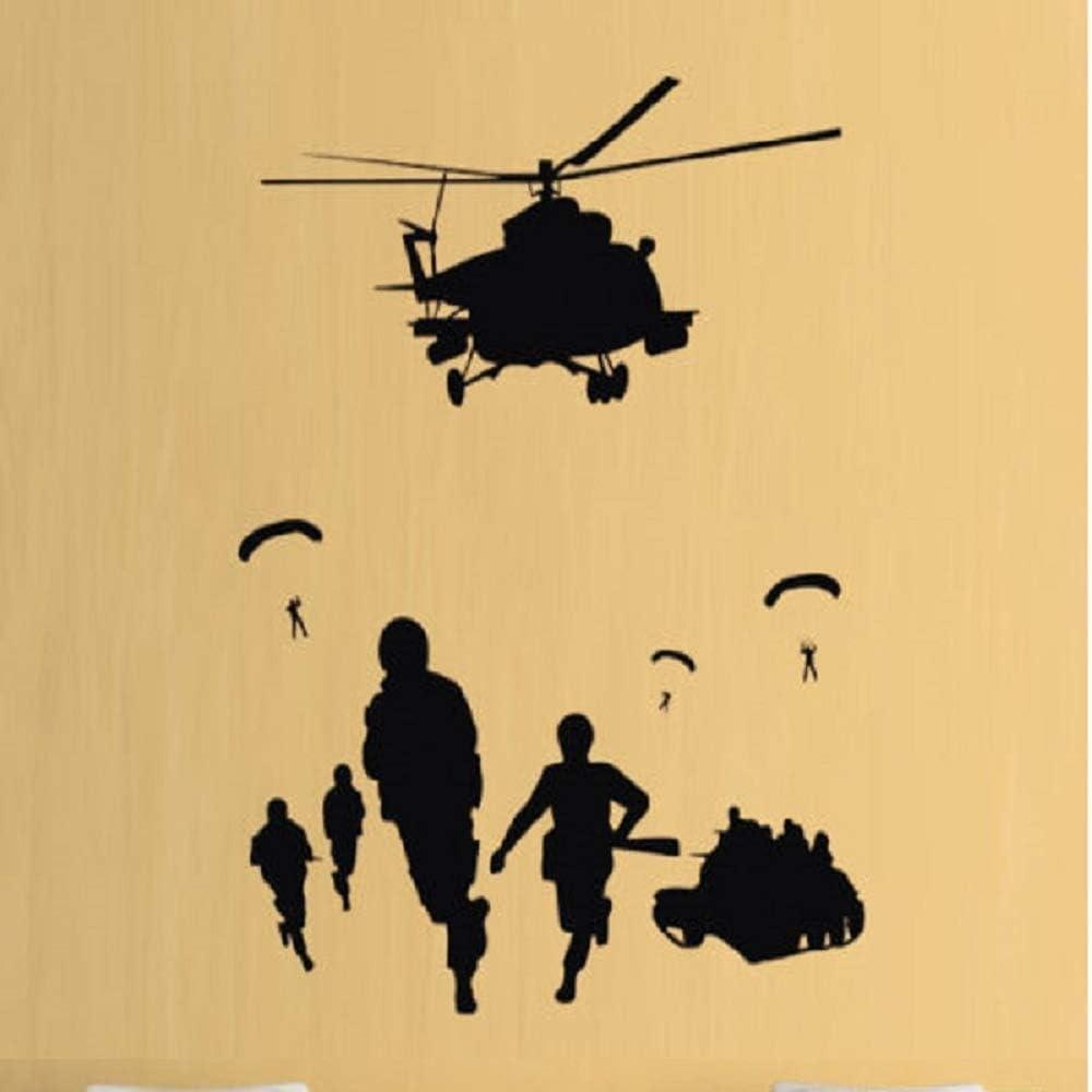 HUGE TANK wall art sticker vinyl KIDS ARMY SOLDIER
