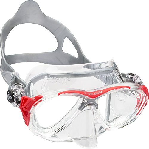 Cressi Adult Small Inner Volume Scuba Diving mask made in the revolutionary Crystal silicone | Eyes Evolution Crystal: made in Italy