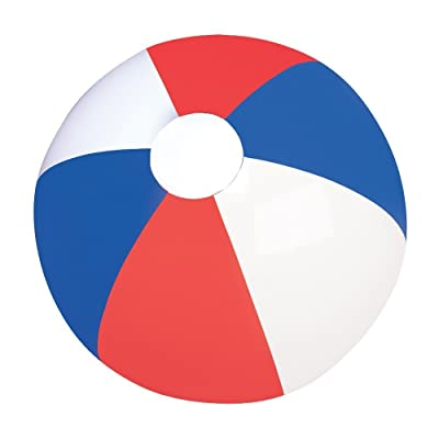 RIN Set of Six (6) Inflatable Patriotic Beach Balls 12 / Party Favor/ 4th of July /Decor / Prize: Toys & Games