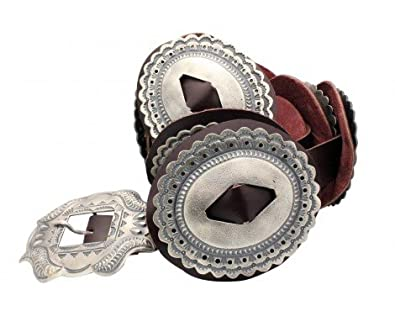 Amazon Hemerson Brown Phase One Concho Belt Sterling