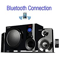Boytone BT-210FD, Ultra Wireless Bluetooth Main unit, Powerful Sound with Powerful Bass System 30 watt, Excellent Quality Clear Sound & FM radio, with Remote Control Aux Port, SB/SD/ for Smartphones , Tablets , Desktop Computers , Laptops ,Black Color