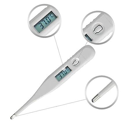 LCD termómetro, hunpta niño adulto cuerpo termómetro digital LCD temperatura medición ussp blanco blanco