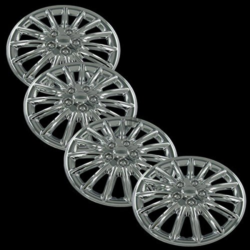 "Chrome 17"" Universal Fit Hub Cap Wheel Covers - Set of 4"