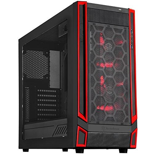 Silverstone RL05 Midi-Tower Negro, Rojo - Caja de ordenador (Midi-Tower, PC, 2x 140 mm, De plástico, Acero, ATX, Micro-ATX, Juego)