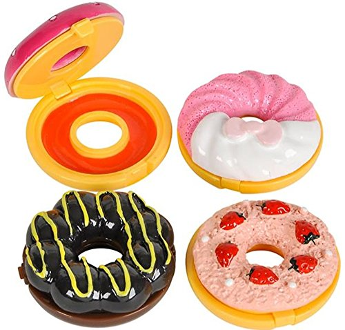 12 frosted donut LIP GLOSS party favors - 2 inch -Great for Shopkins party (Donut Party Favors)