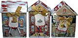 Harry London Village Dark Chocolate Peppermint Bark Tins (Variety Pack of 3)