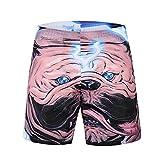 Men Print Summer Drawstring Elastic Running Gym Beach Board Shorts(Dog/XXL)