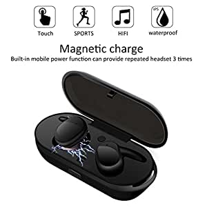 Mini Wireless Earbuds, ELEGIANT True Wireless TWS Headphones Touch Control Headset IPX5 Waterproof Headset With Portable Wireless Charging Station / 12 Hours Game Time / Built-in Microphone