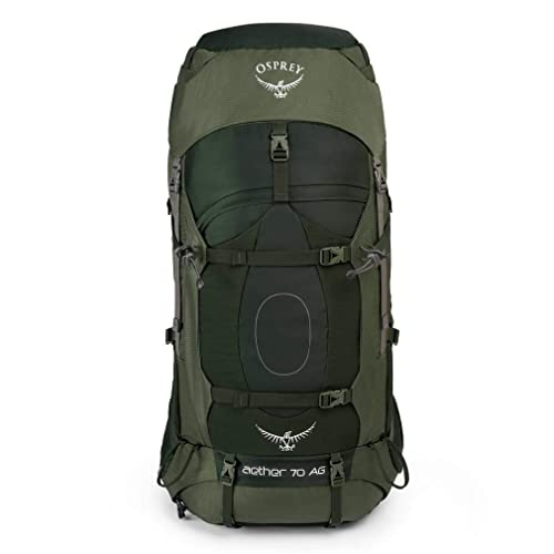 Mochila Osprey Aether 70L AG Mediana, Verde Oscuro, Talla Única: Amazon.es: Deportes y aire libre