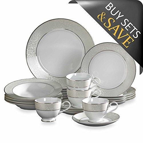 Mikasa Parchment Fine China Dinnerware Set, Service For 4 (20-Piece) - Mikasa Fine Porcelain