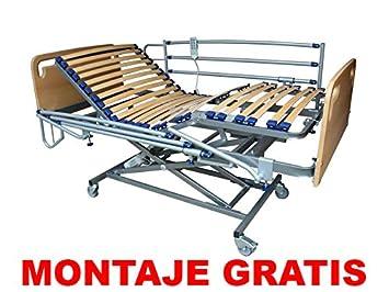 Solocamas Cama Articulada Eléctrica + Carro Elevador (90_x_190_cm) Incluye Colchón Visco: Amazon.es: Hogar