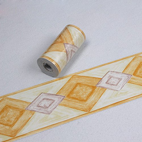 SimpleLife4U Modern PVC Wallpaper Border Peel & Stick Wall Borders Kitchen Decor Sticker
