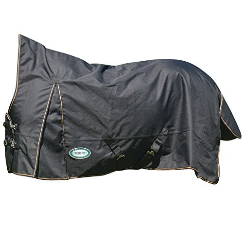 - Country Pride Paladin 1200D High Neck Heavyweight Turnout Blanket - Sz 82 - Black