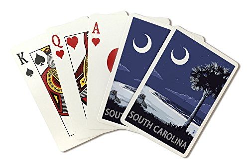 South Carolina - Palmetto Moon (Playing Card Deck - 52 Card Poker Size with - Las South Premium Vegas