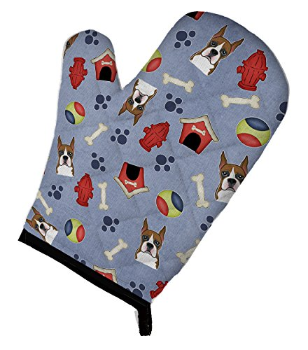 Caroline's Treasures BB4002OVMT Dog House Collection Boxer Oven Mitt, 12