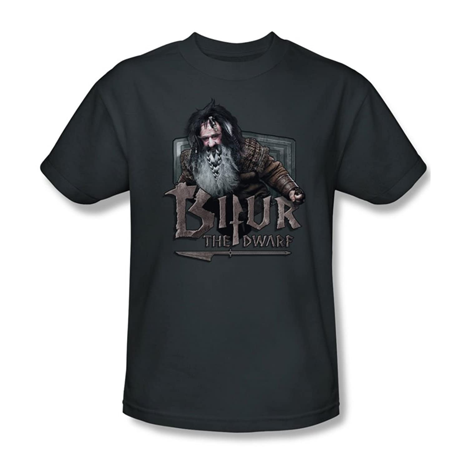 The Hobbit - Mens Bifur T-Shirt In Charcoal