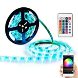 #7: YIHONG LED Light Strip RGB Strip Lights LED Tape Lights Compatible with Alexa and Google Home 150 5050 SMD LEDs Smart Wifi Strip Lights