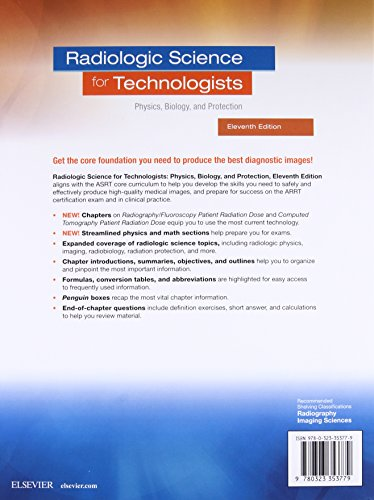 Radiologic Science for Technologists: Physics, Biology, and Protection - http://medicalbooks.filipinodoctors.org