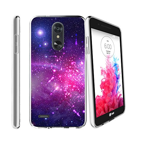 Flex Force by MINITURTLE Compatible with LG Aristo 2 / LG Rebel 3 / LG Tribute Dynasty/LG K8 Plus/LG Zone 4 (2018) Ultra-Clear Transparent Silicone Case - Heavenly Stars