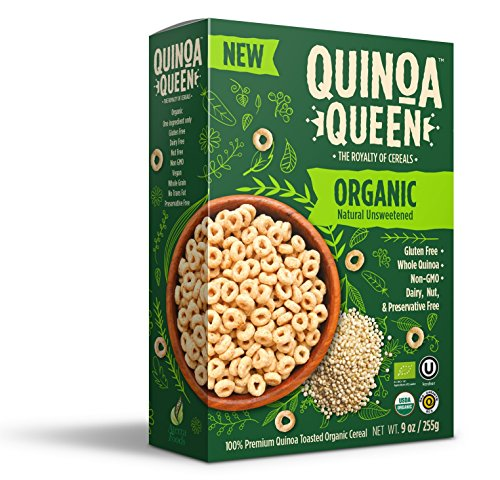 Quinoa Queen Cereal (Unsweetened Organic, 4 Pack) (Kosher Cereal)