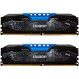 PNY Anarchy 16GB Kit (2x8GB) DDR4 2400MHz (PC4-19200) CL15 Desktop Memory (BLUE) - MD16GK2D4240015AB