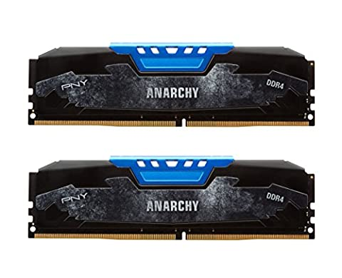 PNY Anarchy 16GB Kit (2x8GB) DDR4 2133MHz (PC4-17000) CL15 Desktop Memory (BLUE) - - Maximus Formula
