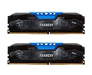 PNY Anarchy 16GB Kit (2x8GB) DDR4 2133MHz (PC4-17000) CL15 Desktop Memory (BLUE) - MD16GK2D4213315AB