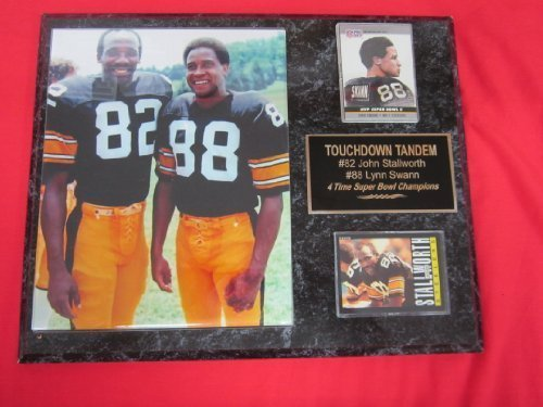 Lynn Swann John Stallworth Pittsburgh Steelers 2 Card Collector Plaque w/8x10 Photo (Lynn Swann Pittsburgh Steelers)
