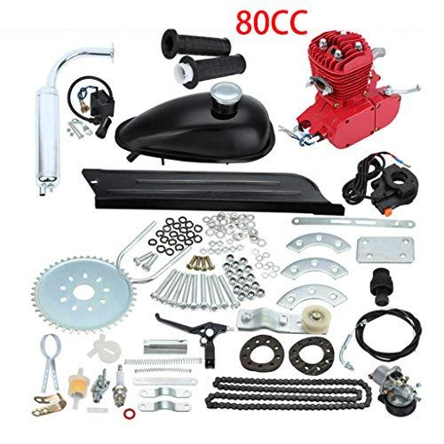80CC Bicycle Engine Kit, Motorized Bike 2-Stroke, Petrol Gas Engine Kit, Super Fuel-efficient for 24