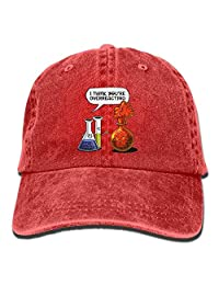 Jiuyuan Science Chemistry Baseball Cap Men Women Adjustable Plain Denim Dad  Hats 048f8d960854