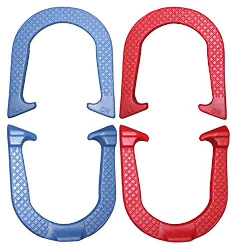 (All-On Professional Pitching Horseshoes Set- Made in The USA (Red & Blue- Two Pair Set (4)