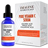 Pharma Expert Designed Super Potent Pure Vitamin C Serum Ferulic Acid Hyaluronic Acid Serum, Brightens and Evens Skin Tone Youthful Glow (2oz)