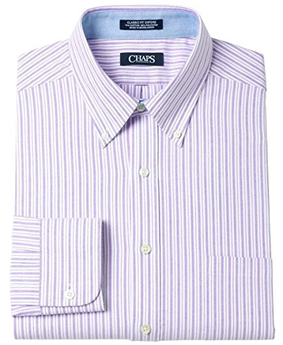 - Chaps Men's Classic Fit Button Down Oxford Dress Shirt White Striped (16 - 16 1/2 Neck 36/37 Sleeves)