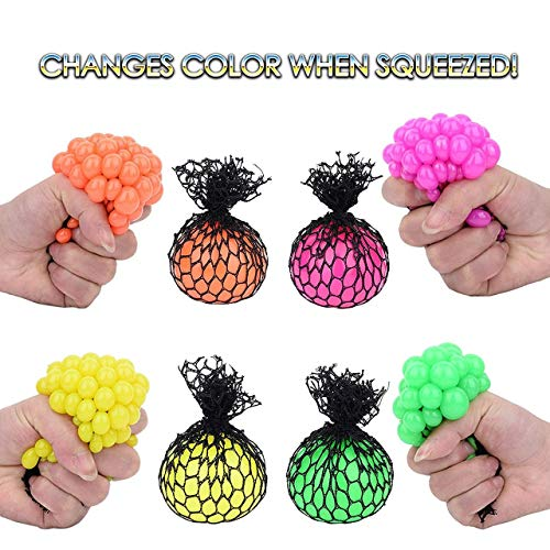 Totem World 36 Colorful Sewn Mesh Stress Balls - 2.4'' Squishy Fidget Toy Perfect for Kids and Adults Materials for Lasting Use - Squeeze Balls for Anxiety and Concentration - Great Party Favors by Totem World (Image #1)