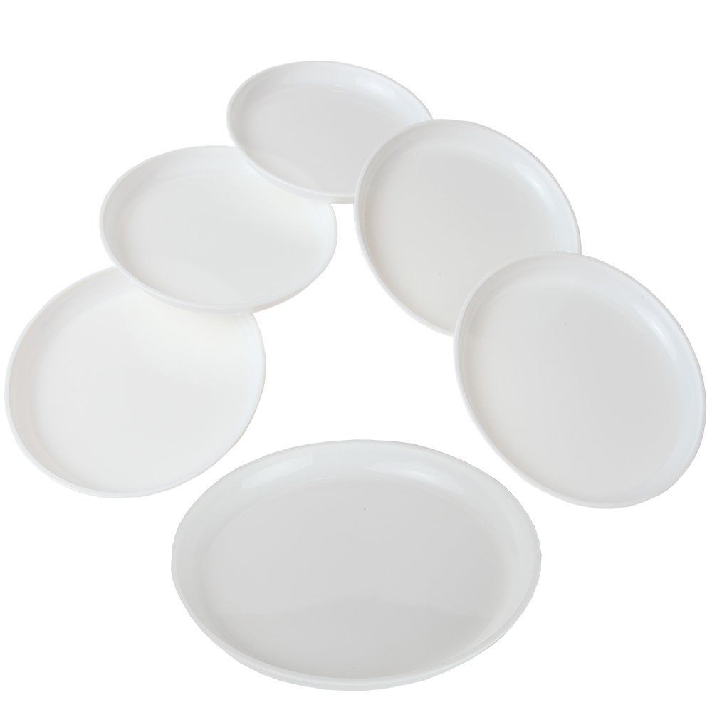 Home-X Microwavable Plates - Set of 6 (7½'' Plates)