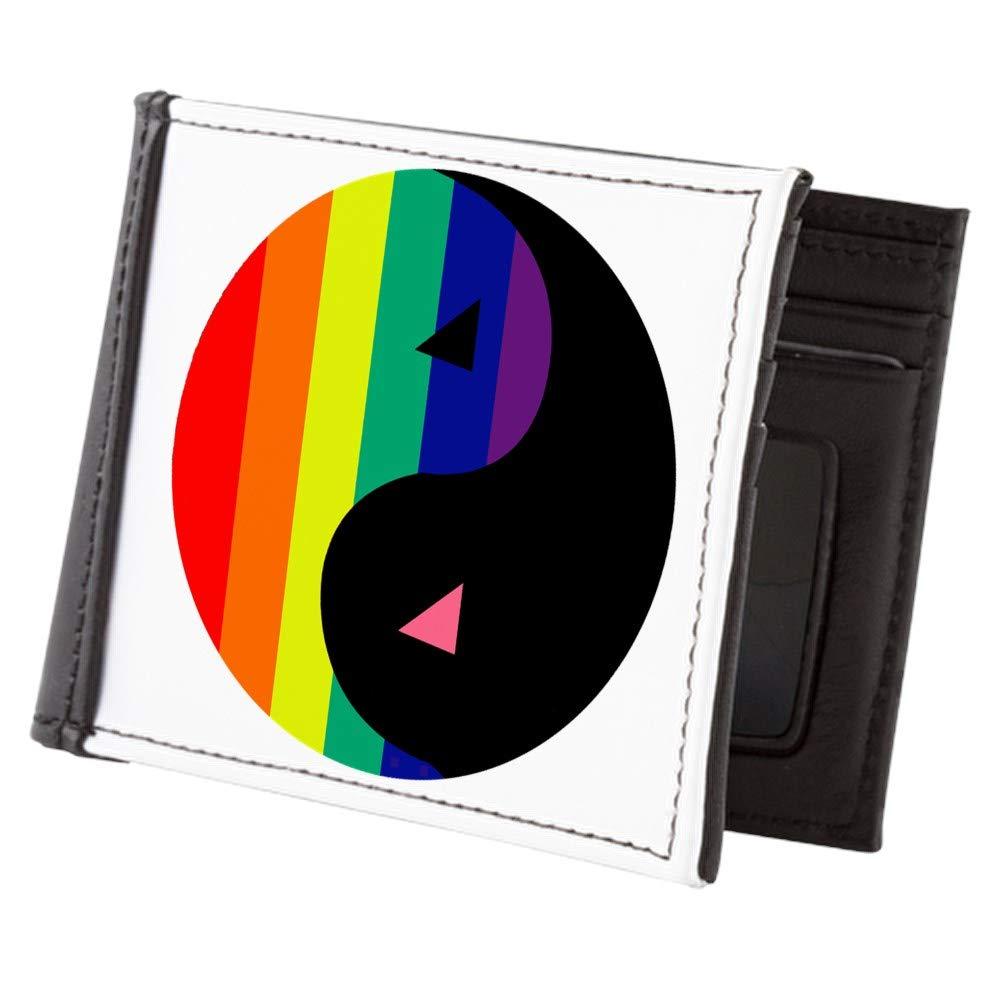 Royal Lion Mens Wallet Billfold Gay Pride Rainbow Flag Yin Yang