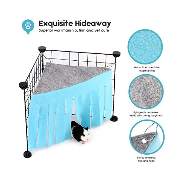 DIDIPET Guinea Pig Hideaway Corner Fleece Forest Hideout for Ferrets Chinchillas Hedgehogs Dwarf Rabbits and Other Small Pets - Accessories and Toys 2