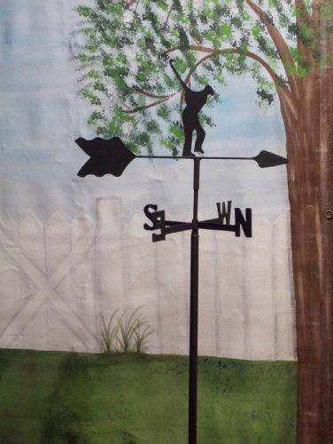 Golfer Garden Style Weathervane Wrought Iron