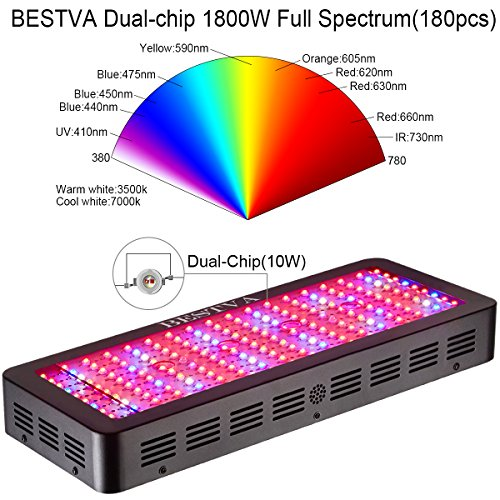 51CiTP3UXjL - LED Grow Light 2000W, BESTVA Double Chips Series Full Spectrum Grow Lamp for Greenhouse Hydroponic Indoor Plants Veg and Flower