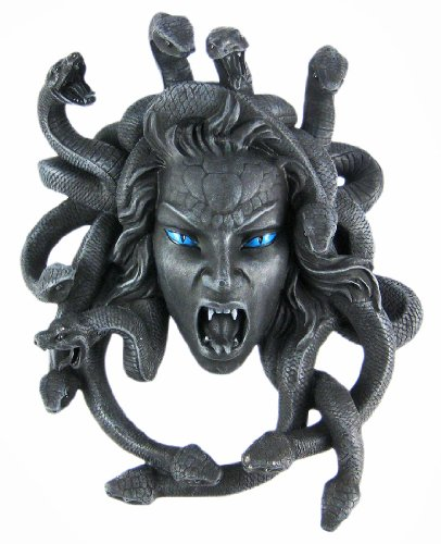 Gruesome Medusa Wall Hanging Snakes (Medusa Home Decor)