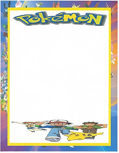 Pokemon Characters Stationery Printer Paper 26 Sheets