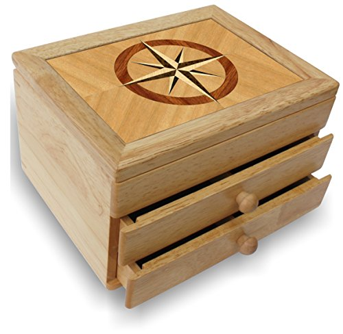 wood jewelry box with drawers - 8