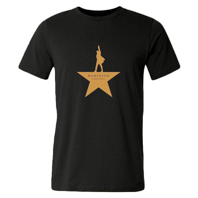 Nitaaa Mens T-shirts Hamilton An American Musical Black Size M
