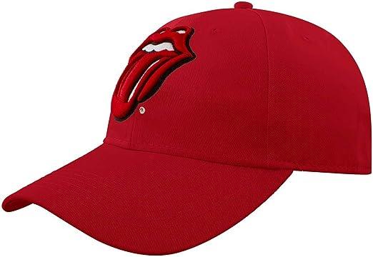 Rolling Stones - Gorra de béisbol - para Hombre Rojo Rosso Talla ...